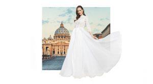 Suknia ślubna z wodą święconą